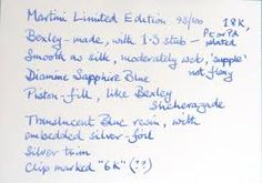 Image result for blue pen writing white paper