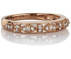 Would love this for my wedding band! Would look awesome with radiant cut Engagement ring! #BlueNile #Vintage #Fashion
