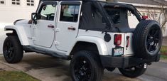 White Jeep, Jeep Wrangler Unlimited, Car, Automobile, Autos, Cars