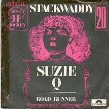 "STACKWADDY ""Suzie Q"" b/w ""Road Runner"" 1972 re Polydor (France)  These ""Dropouts"" formed in '69 w/a rowdy following smashing up ""Progressive"" nights & playing Pub gigs w/BLACK SABBATH. Thanks to JOHN PEEL they signed to his DANDELION label in '70..Released this 45, two solid lps & their ""You Really Got Me"" b/w ""Willie The Pimp""45! STACKWADDY'S Caveman Proto Punk & Twisted lofi Blues stand out miles from outsider labelmates like THE  WAY WE LIVE/TRACTOR, BRIDGET ST. JOHN & SIREN (Kevin…"