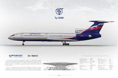 Tupolev Tu-154M Aeroflot RA-85643 #tupolev #tu154 #aeroflot #posterjetavia www.aviaposter.com