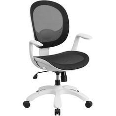 Southport White Frame Ergonomic Computer Chair in Mesh