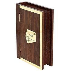 Wooden Book Like Handcrafted Double Playing Card Box 6 x 4 x 1.5 Inch ShalinIndia http://www.amazon.com/dp/B00LAW2GOU/ref=cm_sw_r_pi_dp_4FJSvb1AQWSM3