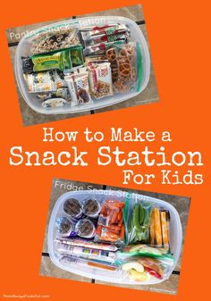 How to Make a Snack Station for Kids   Back To School Snack Ideas #BTFE (sponsored)