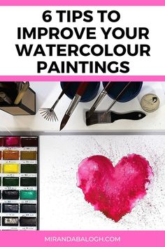 Want to learn how to improve your watercolour skills? Then click here to get 6 expert watercolour tips for beginners and novices. These watercolours tips and tricks will help you understand the importance practicing watercolour brush techniques, why studying colour theory is necessary, and which art supplies are the best to invest in. By following these watercolour dos and don'ts, you'll become a more confident painter in no time! Watercolour Tips, Watercolor Paintings For Beginners, Step By Step Watercolor, Acrylic Painting Tutorials, Easy Watercolor, Watercolour Tutorials, Your Paintings, Beautiful Paintings, Importance Of Art Education
