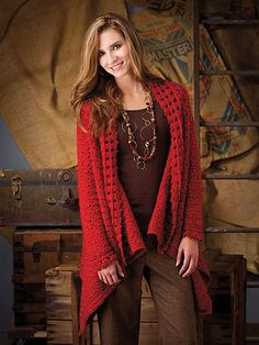 La Symphonie Jacket Wrap ..... from Annie's ..... not free but it's so beautiful. Thinking about going ahead and getting it .... but with so many free patterns online ..... hmm.