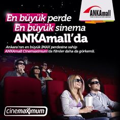 Tüm ziyaretçilerimizi bugünden itibaren #ANKAmall Cinemaximum'a davet ediyoruz!