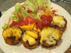 Tostones Rellenos de picadillo - plantains stuffed with savory minced meat and topped with cheese. #puerto rican recipe