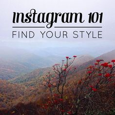 This is a great blog post about finding your style in Instagram.   #Instagram #socialmedia
