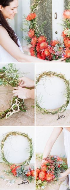 Easy to make DIY wreath perfect for anytime of the year with bright florals and an eclectic feel | Photography by Passion Photography |