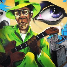 LOVE this street artwork  by the great Chris Daze Ellis I found in Sao Paulo in 2013. How is it that music   has such influence and immediate power to move us? I have some thoughts in 'Rhythm & Blues  and the Beauty Within' — my latest blog post.  Groove on!   #daze #streetart #graffiti #brazil #Brasil #saopaulo #music #travel #art #creativity #artists #beauty #inspiration #wellness #blogging #beautyblogger #beautybloggers #bblogger #bbloggers #guitar #blues #rnb