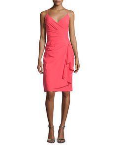 $695 @ Neiman Marcus TC9MT La Petite Robe di Chiara Boni Charnette Sleeveless Ruffled Cocktail Dress