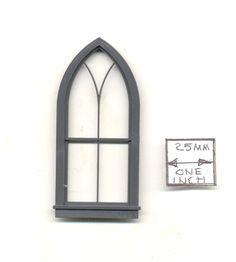 Half Scale Window Gothic Arch Church 3960 Dollhouse miniature Grandt Line Gothic Windows, Church Windows, Farmhouse Trim, Oak Trim, Bird Houses, Doll Houses, Inspiring Things, Interior Trim, Red Oak