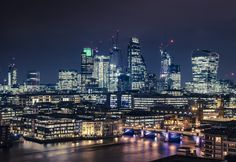City of London Financial District at night (1600x1100)