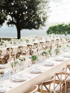 Planner: http://weddingsintuscany.info | Photography: http://www.etherandsmith.com | Florist: http://www.jardindivers.it | Wedding dress: http://www.yolancris.com | Read More: https://www.stylemepretty.com/vault/image/6695777