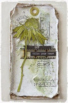 Flower Gardening It's Tag Friday at A Vintage Journey ! - Hello everyone and it is great to have you here for our Tag Friday at A Vintage Journey with the DT showcasing tags in their own style using Tim's products or techniques. I had great fun putting t Atc Cards, Card Tags, Gift Tags, Tim Holtz Stamps, Handmade Tags, Handmade Books, Mix Media, Paper Tags, Artist Trading Cards