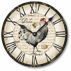Special Offers - Item C5006 Vintage Style Country French Chicken Clock (12 Inch Diameter) - In stock & Free Shipping. You can save more money! Check It (May 23 2016 at 09:12PM) >> http://wallclockusa.net/item-c5006-vintage-style-country-french-chicken-clock-12-inch-diameter/
