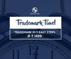 Build your brand identity by registering your Trademark in 5 easy steps. Trademark Registration in just one hour with Startupwala in just Rs. 1499 !!!  Trademark Registration made easy here-  https://www.startupwala.com/trademark-registration.html