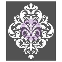 Evoking a stylish flair, the Large Damask Stencil Wall Decal features a beautiful damask design that works well with plastor, chalk base paint, and waxes. This wall decal adds elegance and timeless charm to any room, and is reusable. Damask Wall Stencils, Wall Stencil Patterns, Stencil Painting, Wall Stenciling, Wall Stencil Designs, Bird Stencil, Wallpaper Stencil, Large Stencils, Faux Painting