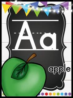 "Farmhouse Flair Primary Alphabet Posters: Farmhouse Flair PRIMARY Classroom Decor Bundle: I love the farmhouse trend, but I also love a BRIGHT and cheery classroom. This bundle is full of galvanized metal, chalkboards, lanterns, string lights, shiplap, and it goes back to the basics with PRIMARY colors to liven it up! It is sure to give you the PERFECT ""home away from home."" #HollieGriffithTeaching #BackToSchool #FarmhouseClassroom"