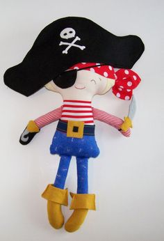 Ahoy Matey!  Pirate Doll 19 inches  $35