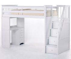 School House Stair Loft Bed White http://www.ekidsrooms.com/School_House_White_Stair_Loft_Bed_p/ne7090.htm