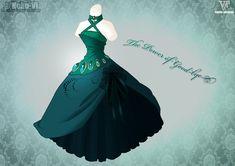 The Power Of Good-bye by Neko-Vi on DeviantArt Fashion Design Drawings, Fashion Sketches, Drawing Fashion, Vestidos Anime, Pretty Dresses, Beautiful Dresses, Anime Outfits, Dress Outfits, Anime Dress