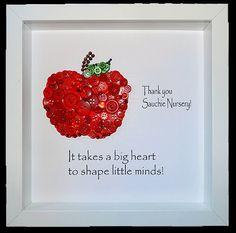 Thank you teacher gift personalised apple от CraftyLittleMonkey14