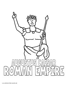 World History Coloring Pages Printables Caesar Augustus Colouring Pages, Coloring, History Activities, Mystery Of History, Back In Time, Reformation, Roman Empire, World History, Walt Disney World