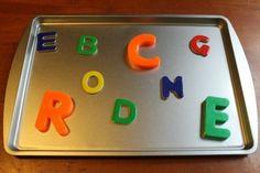phonics activities for children - alphabet magnets