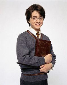 Actor Daniel Radcliffe as Harry Potter in the Film ca. 2001
