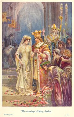 The Marriage of King Arthur illus. by Lancelot Speed (1860-1931), from The Legends of King Arthur & His Knights, 9.ed. by Sir James Knowles, 1912.