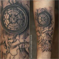 Compass tattoo by amir Shaikh at aliens tattoo India