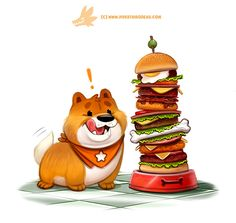 """Chowchow Down!  (Commission for DeviantART's """"Treat Yourself"""" campaign) by Piper Thibodeau on ArtStation."""