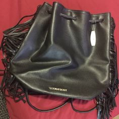 Victoria secret black back pack New with tags PINK Victoria's Secret Bags Backpacks