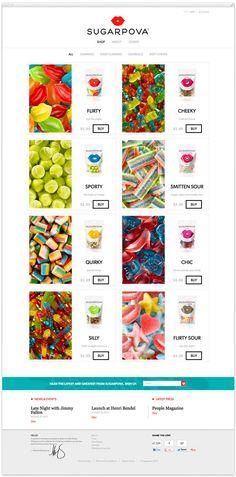 Sugarpova website // via LogoDesignLove #webdesign #logo #branding