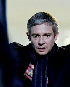Martin Freeman as John Watson. The look on John's face.