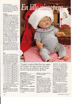 Album Archive - Dukketøj til Baby Born 2 - Ingelise Knitting Dolls Clothes, Knitted Dolls, Doll Clothes Patterns, Crochet Dolls, Doll Patterns, Barbie Clothes, Barbie Dolls, Baby Born Clothes, Baby Booties Free Pattern