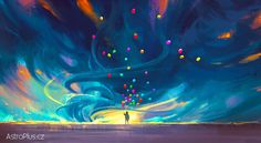 child holding balloons standing in front of fantasy storm,illustration painting - Buy this stock illustration and explore similar illustrations at Adobe Stock Balloon Stands, Dalai Lama, Acrylic Painting For Beginners, This Is Your Life, Blue Fairy, Les Sentiments, Fantasy Paintings, Digital Paintings, Abstract
