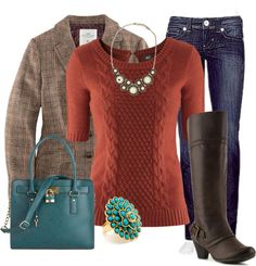 """Fall Blazer and Boots"" by aemorgan on Polyvore"
