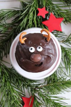 Reindeer cupcakes: recipe for Christmas muffins. The reindeer muffins are a great recipe for childre Muffins, Fabulous Foods, Muffin Recipes, Diy Food, Kids Meals, Pudding, Sweets, Desserts, Blog