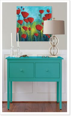 Buffet by Maine Cottage | Small Margate Buffet in Key West Teal #colorfulfurniture