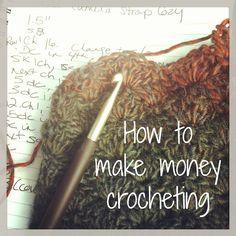 How to make money crocheting knitting craft sales.                                             Sell online via FREE e-Shop: http://www.tripleclicks.com/14382956/ECA