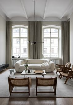 Home Interior Living Room .Home Interior Living Room Apartment Interior, Apartment Design, Living Room Interior, Home Interior Design, Interior Decorating, Apartment Goals, Stockholm Apartment, Interior Colors, Apartment Living