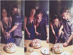 rođendanska :D  @kotijero      #happy #birthday #couple #loce #cake #goingout #smile #laugh #funny #cute by kat_von_wood