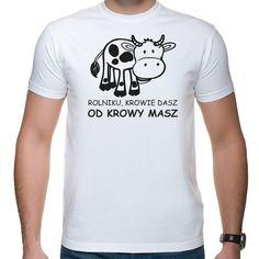 Rolnik - krowie dasz Mens Tops, T Shirt, Fashion, Supreme T Shirt, Moda, Tee Shirt, Fashion Styles, Fashion Illustrations, Tee