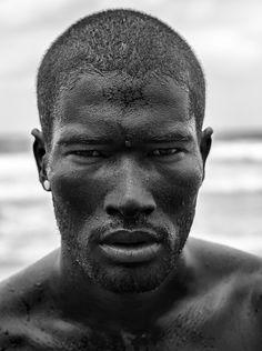 Omar, Kamal, Emmanuel.   Rivaldino Santos by Exotrik Love the cheek bones & lips.