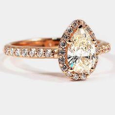 Rose Gold Halo Ring
