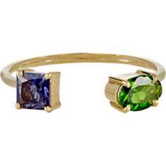 Gemstone Cuff Ring
