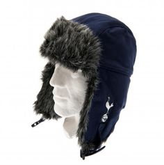 Adult's fur lined Tottenham Hotspur hat in club colours and featuring the club crest on the ear flap. FREE DELIVERY on all of our football merchandise Football Accessories, Tottenham Hotspur Football, Football Memorabilia, Soccer Gifts, Trapper Hats, Swing Tags, Knitted Gloves, Winter Hats, London Football